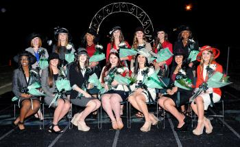 The Morgan City High School homecoming court was presented at halftime of Friday's game against Ellender. They are, seated from