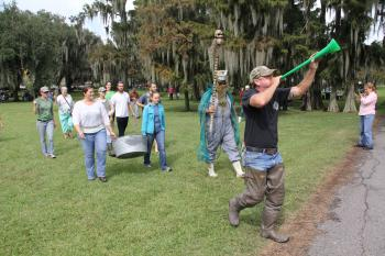 La Fête d'Ecologie was held Saturday, Oct 19, at Lake End Park in Morgan City.  The Cast Net King procession.