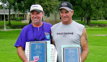 Class E winners, Alan Bass of Shreveport (first) and Greg Smith of Lake Charles (second). Not pictured is third-place winner Randy Giroir of Berwick.