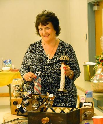"""Bayou Vista Garden Club members learned about """"upcycling"""" from member Kim Alcina, environmental awareness chairman. She displayed several """"upcycling"""" craft projects she designed utilizing items found in sewing rooms and baskets."""