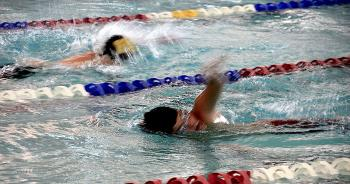 Central Catholic's Jack Autrey swims during action Sept. 21 in Lafayette. Autrey, along with William Hunter and John Carmody, all swam personal bests at the meet.